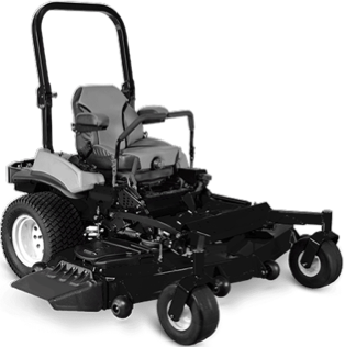 black zero-turn lawn mower